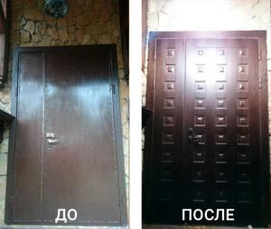 Отделка дверей в Химках